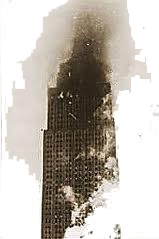 1945 Empire State Bldg hit by airplane
